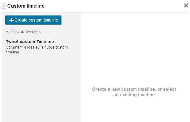 cronologie personalizzate creazione