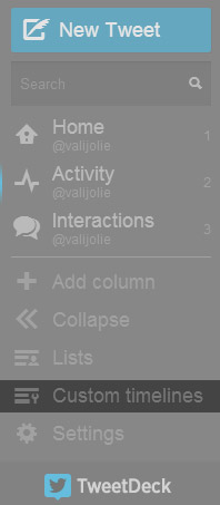 timeline personalizzate tweetdeck