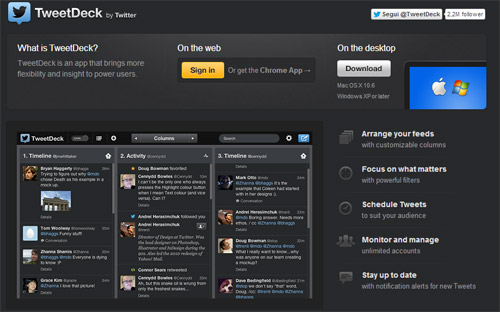 Homepage tweetdeck