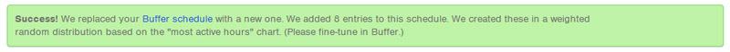 configurare buffer con followerwonk