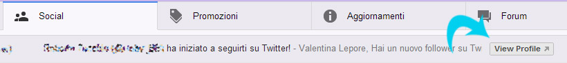 gmail colegamento twitter